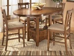 Mission Oak Counter Foter - Oak counter height dining room tables