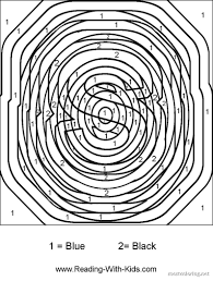 advanced color by number coloring pages kids coloring