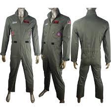 top gun jumpsuit gun aviator costume jumpsuit pilot flight 80 s suit