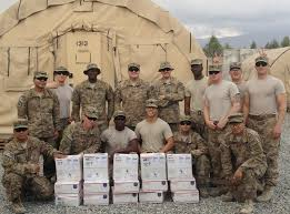 care packages for soldiers soldiers receiving our care packages in