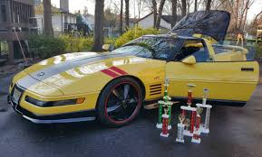 black and yellow corvette 1992 corvette one of a king greenwood package lt1 c4 yellow