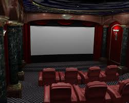 extravagant red home theater idea for luxury and comfy design