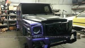 mercedes benz jeep black wald international prepares a purple mercedes benz g55 amg black