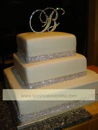 rhinestone cake 13 square wedding cakes with rhinestones photo wedding cake with