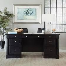 Walmart Desks Black by Sauder Palladia Executive Desk Multiple Finishes Cherries