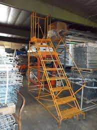 Stair Cases Steel Stair Cases And Ladder All American Rack Company Warehouse