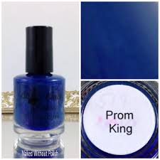 little black dress nail polish prom king and queen duo swatch and