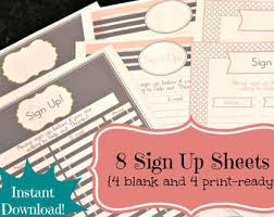 email sign up sheet template google search sign up pinterest