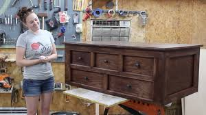 build a coffee table with storage youtube