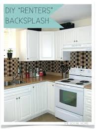 temporary kitchen backsplash kitchen amusing temporary kitchen vinyl wallpaper for easy diy