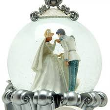 cinderella wedding carriage snow globe