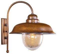 Rustic Outdoor Wall Lighting Bubbles Outdoor Wall Sconce With Seeded Glass Rustic Within