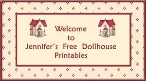 free printable dollhouse wallpaper vintage modern miniature
