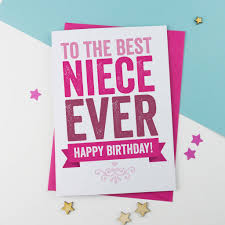 niece birthday card by a is for alphabet notonthehighstreet com