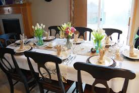 Dining Room Table Placemats by On The V Side Easter Table
