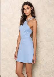 light blue mini dress junior clothing baby blue cut out mini dress loveculture com