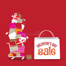 s day shopping s day sale shopping bag background stock vector image
