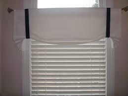 white canvas window treatment tie up valance curtain nautical