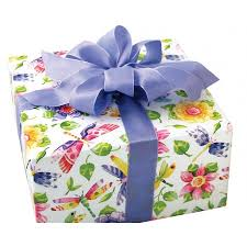 wrapped gift box floral wrapping paper contemporary traditional designs box