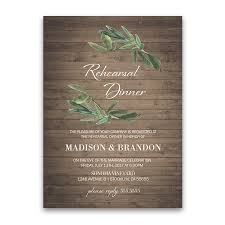 rehearsal dinner invite rustic wedding rehearsal dinner invitation with greenery