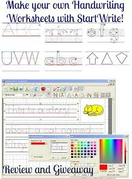 make your own handwriting worksheets startwrite review and