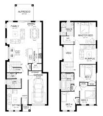 Narrow Block Floor Plans by New Home Builders Edgecliff 25 Double Storey Home Designs