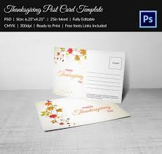 6 thanksgiving postcard templates free psd format download