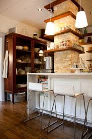 apartment therapy kitchen island exposed brick chimney kitchen ideas exposed