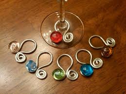wine glass charms ohhhh me likey crafty beeyotch