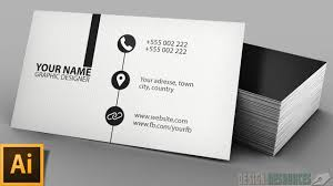 business card clean modern business card illustrator tutorial