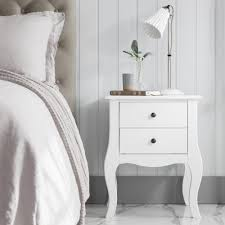 side table 2 drawers camille 2 drawer side table chest in white accessories from noa