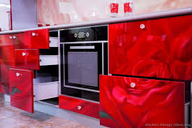 Pictures Of Modern Kitchen Designs Kitchen Idea Of The Day Roses Are Red So Are These Kitchens