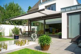 Electric Awning For House Patio And Balcony Awnings Markilux