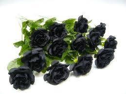 Wholesale Silk Flowers 144 Wholesale Artificial Silk Flowers Black Rose Stems In Black