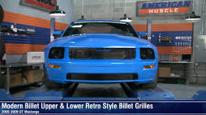 2007 mustang grill mustang black and polished retro billet grilles 05 09 gt review
