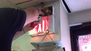 exit emergency light combo exit sign emergency light repair youtube