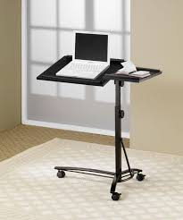 computer stand with adjustable swivel top mobile