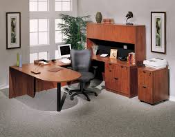 Office Table U Shape Design Boss U Shaped Computer Desk With A Peninsula