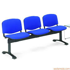 ml100 panca m bench for waiting room with upholstered and covered