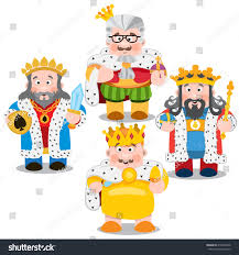 four kings cartoon characters vector stock vector 418422358