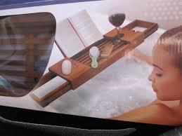 Bathtub Book Tray Com Blissful Bath Teak Tub Tray Caddy
