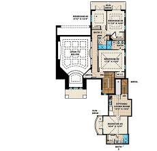mediterranean house plan with in law apartment 66335we