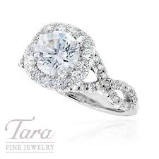 Tacori Wedding Rings by Tacori Diamond Wedding Ring In 18k White Gold 77 Ctw Center