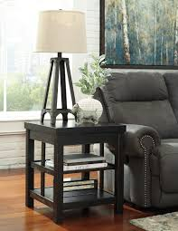 Ashley Furniture End Tables Signature Design By Ashley Gavelston Rubbed Black Square End Table