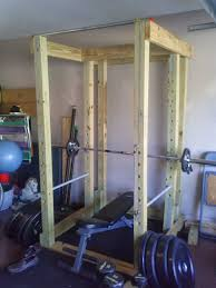 Bench For Power Rack Homemade Wooden Power Rack Power Cage The Power Rack One Year
