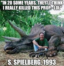 Funny Dinosaur Meme - steven spielberg dinosaur killer funniest reactions to fake