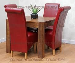 manificent decoration red leather dining room chairs crafty design