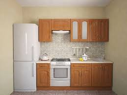 kitchen furniture for small kitchen small kitchen furniture and refrigerator on one wall small kitchen