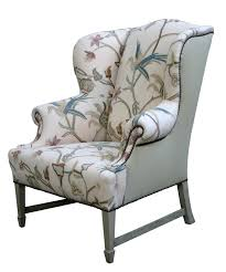 wing back dining chairs best white gray floral pattern of