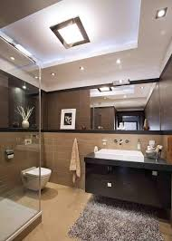 einrichtung badezimmer glasdusche kleines bad einrichten ideen wandspiegel bäder